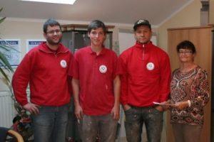 Zwei neue Facharbeiter im Kabel-Team