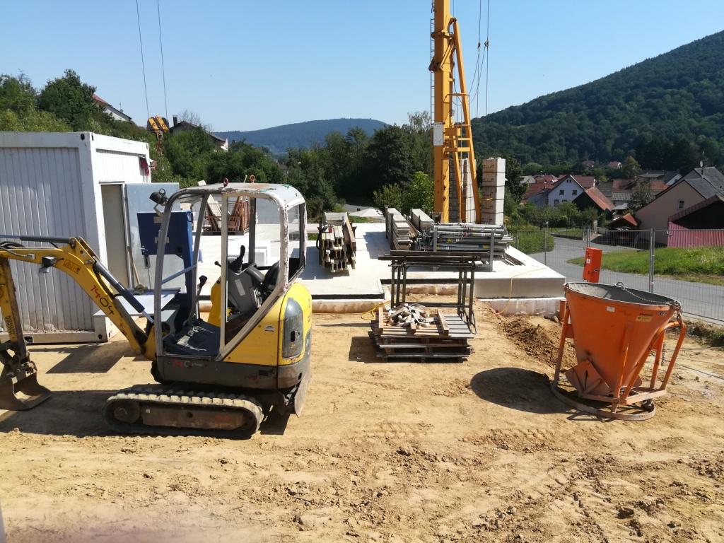 Neubau Kellergeschoss in Breitendiel