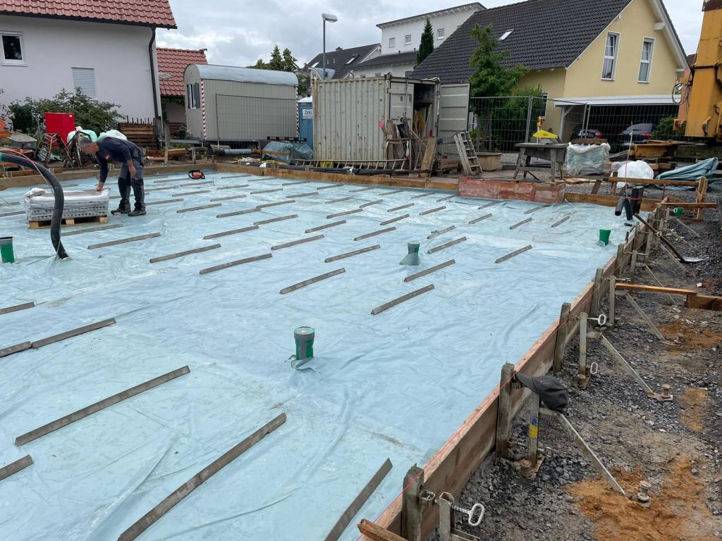 BV Babenhausen 3 Vorbereitung Betonage der Bodenplatte